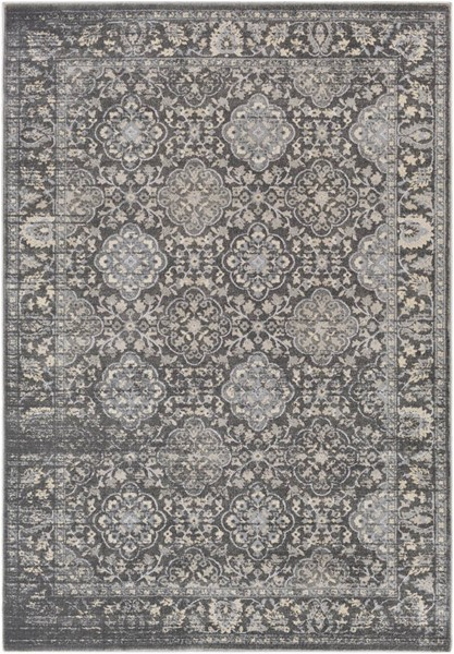 Surya Tranquil Light Gray Taupe Polypropylene Polyester Area Rug - 120x96 TQL1009-810