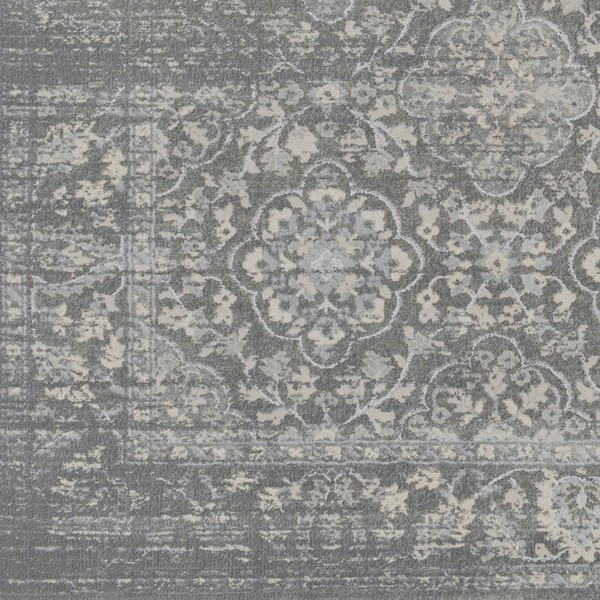 Surya Tranquil Light Gray Taupe Polypropylene Polyester Sample Area Rug - 18x18 TQL1009-1616