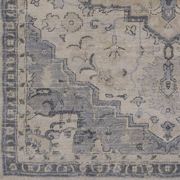 Surya Tranquil Gray Cream Polypropylene Polyester Sample Area Rug - 18x18 TQL1011-1616