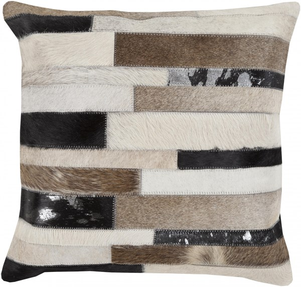Trail Modern Beige Taupe Gray Throw Pillow L 18 X W 18 X