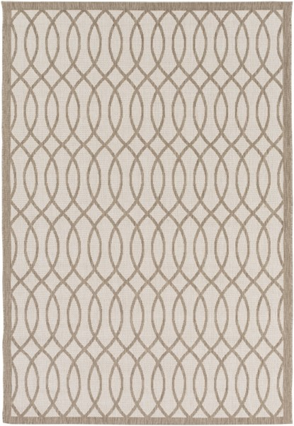 Terrace Contemporary Olive Ivory Polypropylene Area Rugs 13171-VAR1