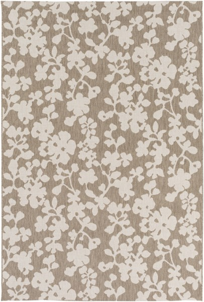 Terrace Contemporary Olive Ivory Polypropylene Power Loomed Area Rugs 13174-VAR1
