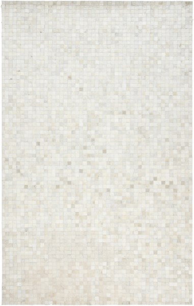 Surya Trail Ivory Khaki Beige Hair On Hide Area Rug - 96x60 TRL1117-58