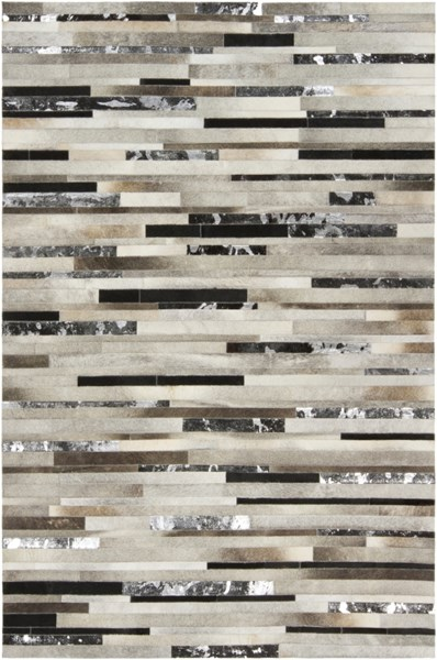 Surya Trail Black Dark Brown Ivory Hair On Hide Area Rug - 144x108 TRL1120-912
