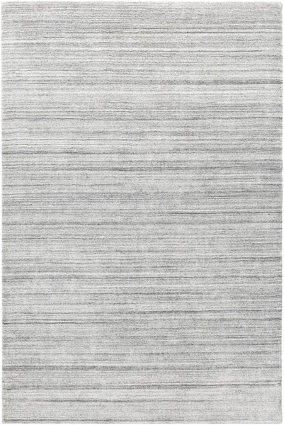 Surya Torino Silver Gray Wool Cotton Area Rug - 144x108 TRN2302-912