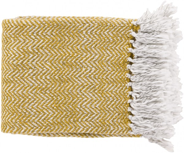 Trina Traditional Gold Ivory Charcoal Acrylic Polyester Throws TRR4000-5060