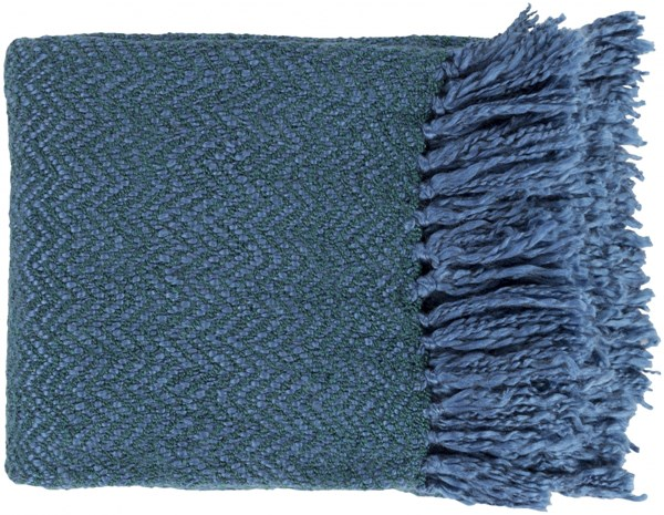 Trina Traditional Teal Acrylic Polyester Throws TRR4003-5060