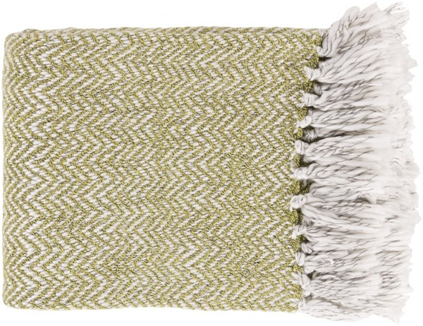 Trina Traditional Lime Ivory Charcoal Acrylic Polyester Throws TRR4004-5060