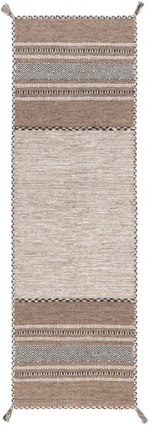 Surya Trenza Camel Dark Brown Ivory Cotton Chenille Runner - 96x30 TRZ3001-268