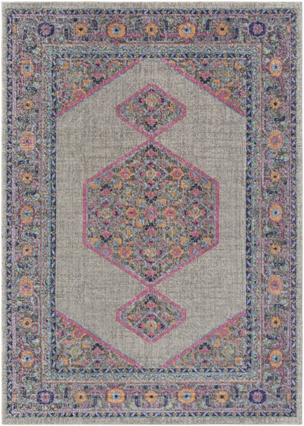 Surya Tessera Teal Light Gray Orange Polypropylene Area Rug - 36x24 TSE1001-23