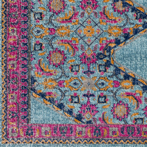 Surya Tessera Teal Garnet Dark Blue Polypropylene Sample Area Rug - 18x18 TSE1004-1616