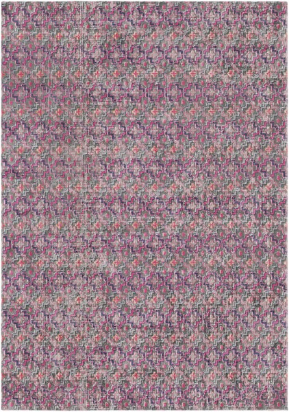 Surya Tessera Bright Pink Dark Blue Light Gray Polypropylene Area Rug - 87x63 TSE1006-5373