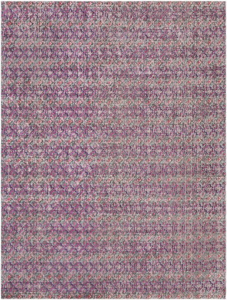 Surya Tessera Bright Pink Dark Blue Light Gray Polypropylene Area Rug - 123x94 TSE1006-710103