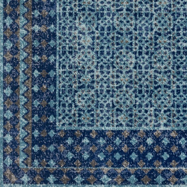 Surya Tessera Teal Dark Blue Charcoal Polypropylene Sample Area Rug - 18x18 TSE1008-1616