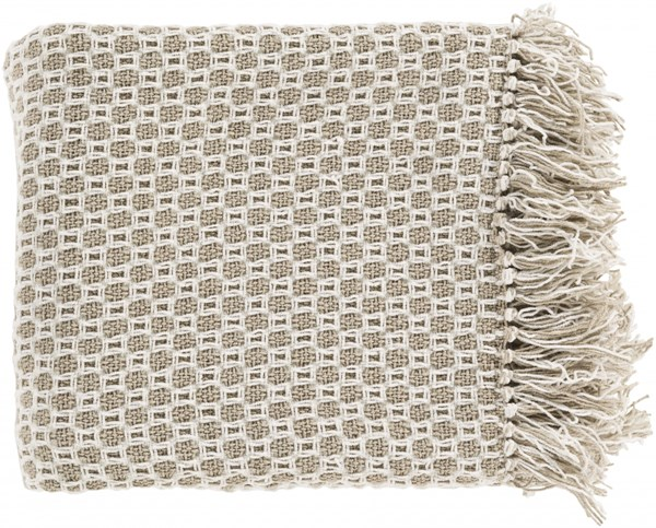 Trestle Contemporary Olive Beige Cotton Throws TSL2000-5060