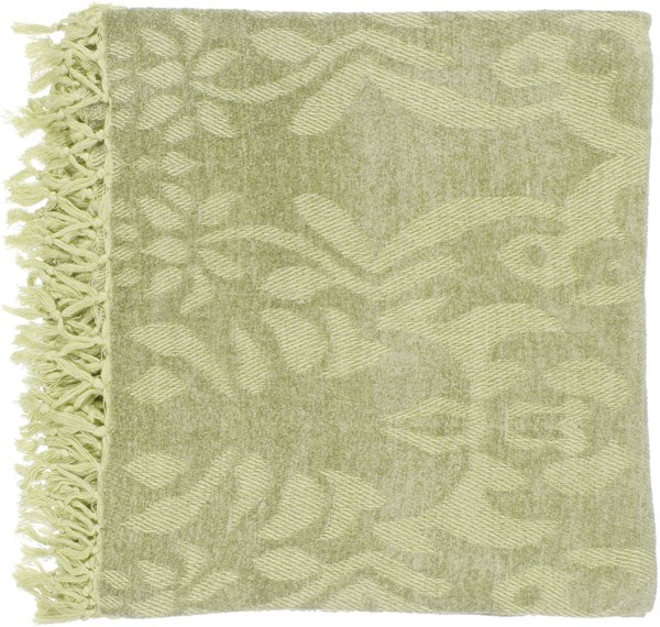 Tristen Traditional Lime Gold Viscose Throws TST2003-5070