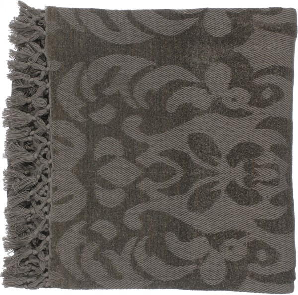 Tristen Traditional Forest Olive Viscose Throws TST2006-5070