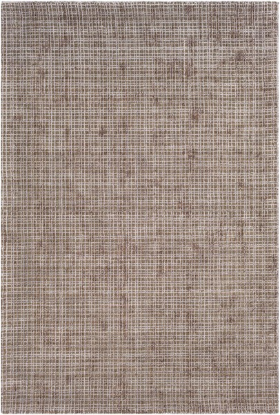 Surya Tatyana Dark Brown Light Gray Art Silk Jute Area Rug - 120x96 TTA1001-810