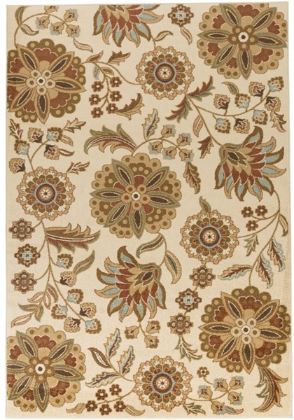 Tatil Beige Chocolate Moss Polypropylene Area Rug - 62 x 90 TTL1014-5276