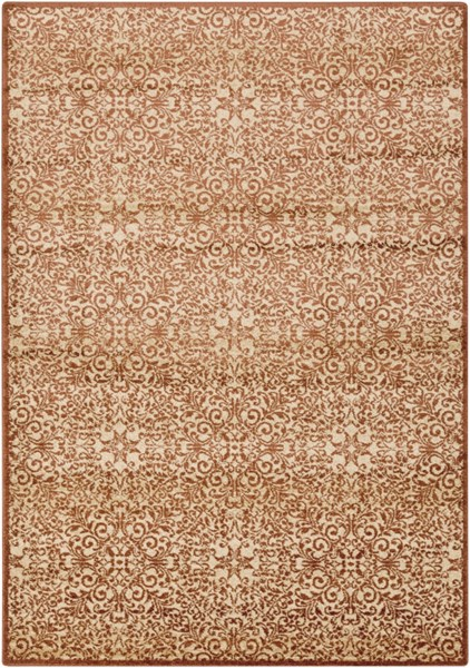 Tatil Burgundy Beige Gold Polypropylene Area Rug - 62 x 90 TTL1016-5276