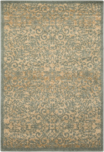 Tatil Contemporary Moss Beige Gold Polypropylene Area Rugs 12774-VAR1