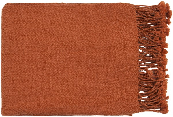 Turner Traditional Rust Acrylic Rectangle Throws TUR8403-5060