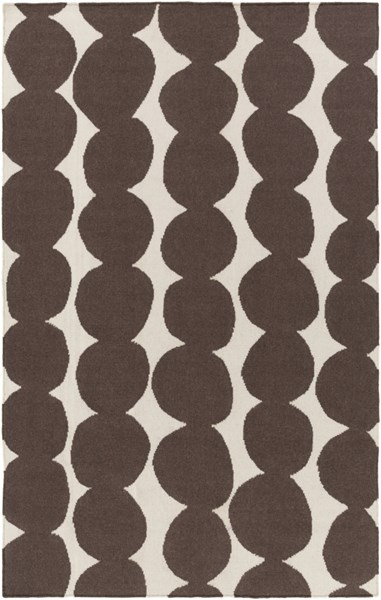 Textila Light Gray Black Wool Area Rug - 60 x 96 TXT3012-58