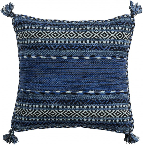 Trenza Pillow With Poly Fill In Cobalt Navy Sky Blue - 20 x 20 x 5 TZ004-2020P