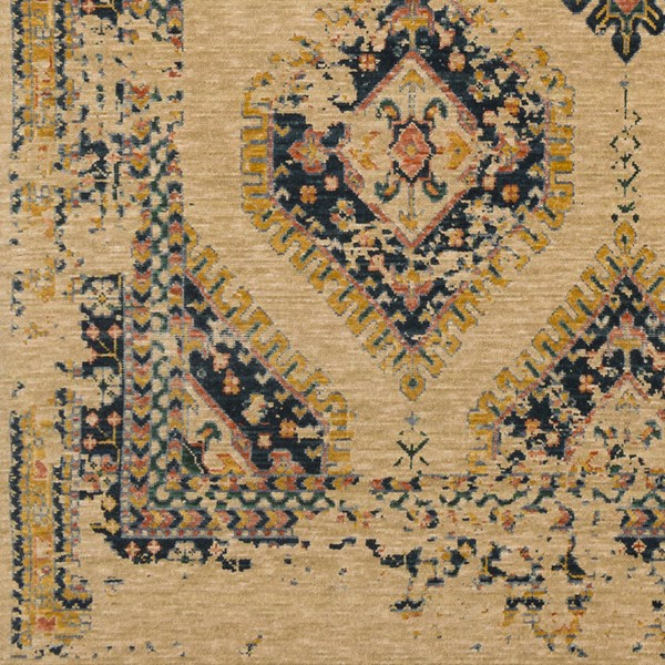 Surya Trailblazer Saffron Wheat Bright Orange Wool Nylon Sample Area Rug - 18x18 TZR1006-1616
