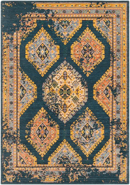Surya Trailblazer Saffron Gray Bright Orange Wool Nylon Area Rug - 90x63 TZR1007-5376