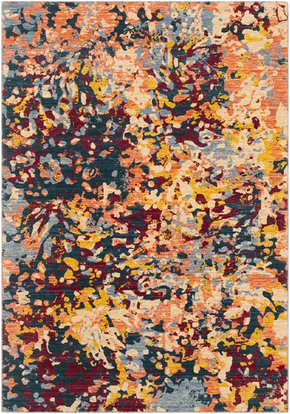 Surya Trailblazer Denim Wheat Saffron Wool Nylon Area Rug - 132x96 TZR1017-811