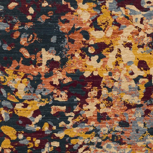 Surya Trailblazer Denim Wheat Saffron Wool Nylon Sample Area Rug - 18x18 TZR1017-1616