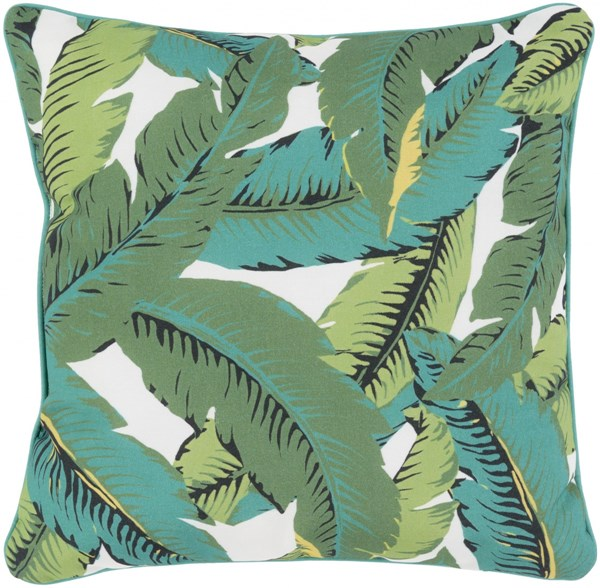 Ulani Leaves Pillow In Green Lime Forest - 20 x 20 x 5 UL003-2020