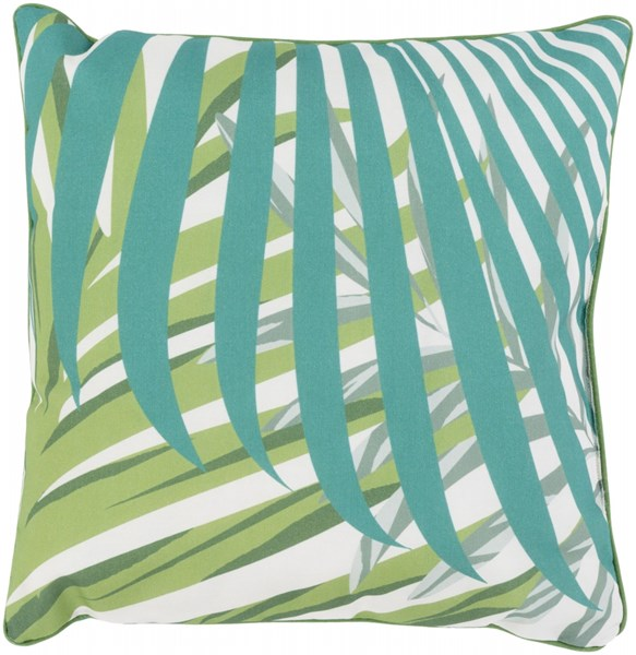 Ulani Leaves Pillow In Green Lime Black - 16 x 16 x 4 UL005-1616