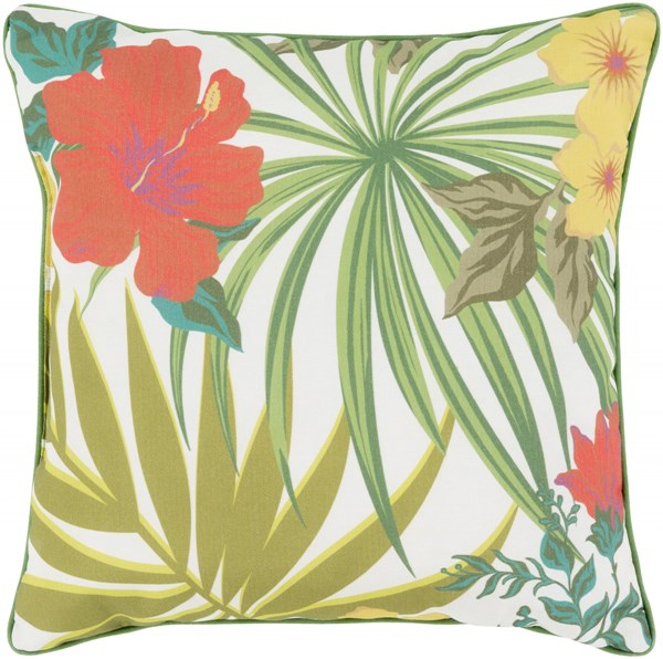 Ulani Flower Pillow In Rust Ivory Gold - 16 x 16 x 4 UL008-1616