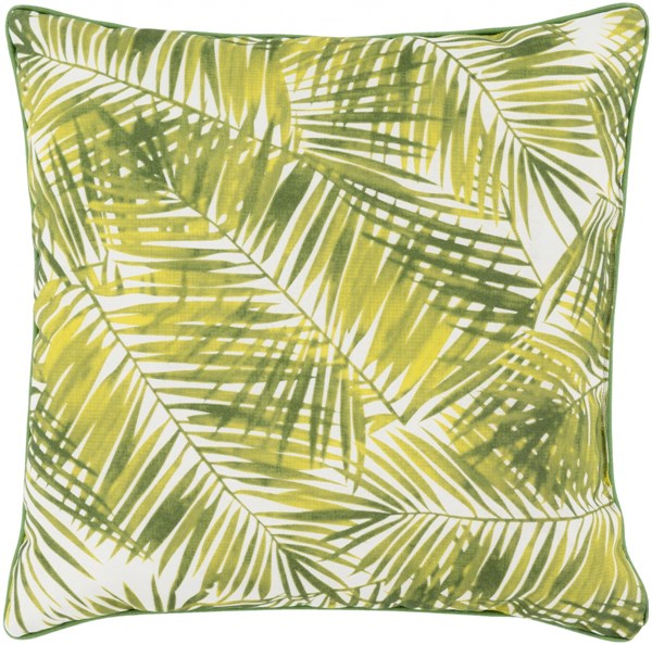 Ulani Leaves Pillow In Lime Forest - 16 x 16 x 4 UL009-1616