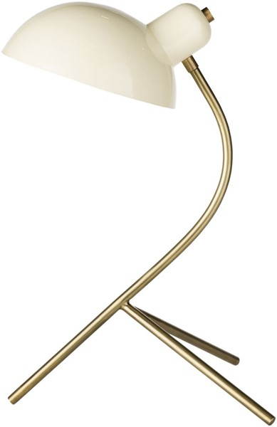 Surya Ula Beige Metal Table Lamp - 12.5x10 ULA-001
