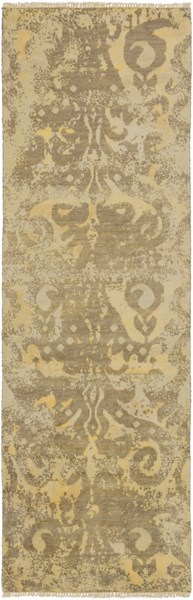 Uncharted Olive Gold Wool Runner - 30 x 96 UND2001-268