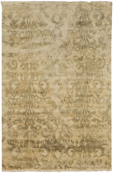 Uncharted Olive Gold Wool Area Rug - 60 x 96 UND2001-58