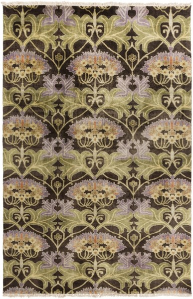 Uncharted Beige Olive Mauve Rust Wool Area Rug - 60 x 96 UND2004-58