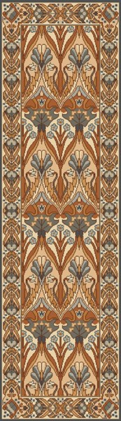 Uncharted Contemporary Rust Coral Mocha Fabric Runners 12969-VAR1