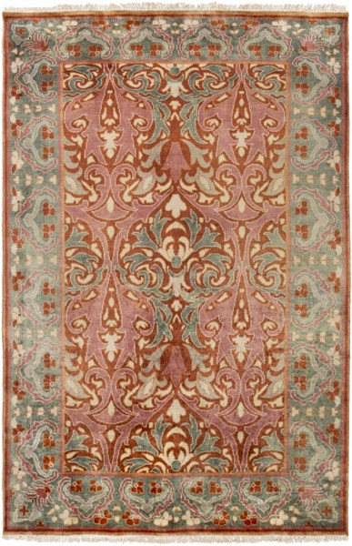 Uncharted Rust Moss Ivory Wool Area Rug - 60 x 96 UND2006-58