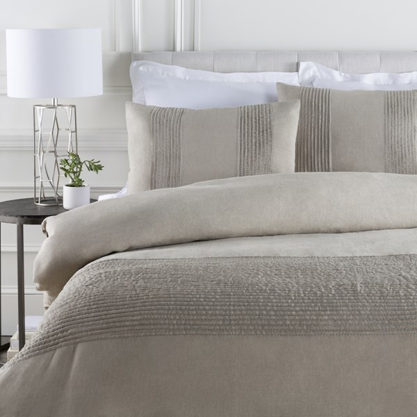 Upton Natural Linen Full / Queen Duvet - 88x92 UPT8000-FQ