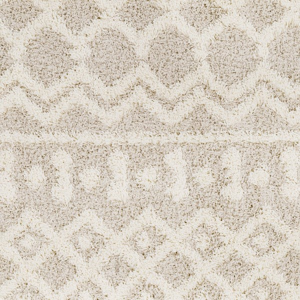 Surya Urban Shag Cream Beige Polypropylene Sample Area Rugs USG2303-RUG-VAR
