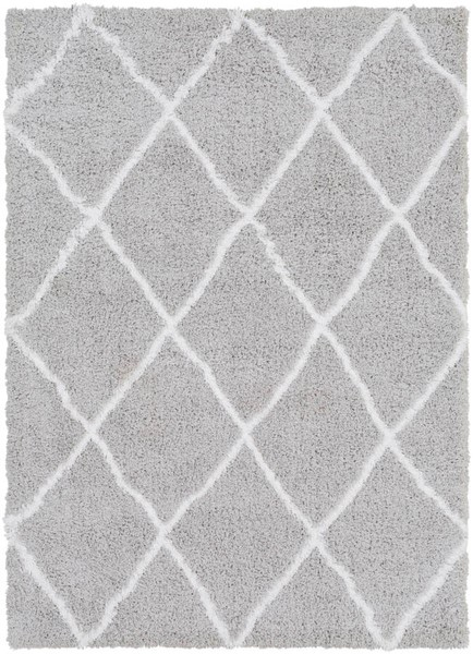 Surya Urban Shag Light Gray White Area Rug - 123x94 USG2306-710103