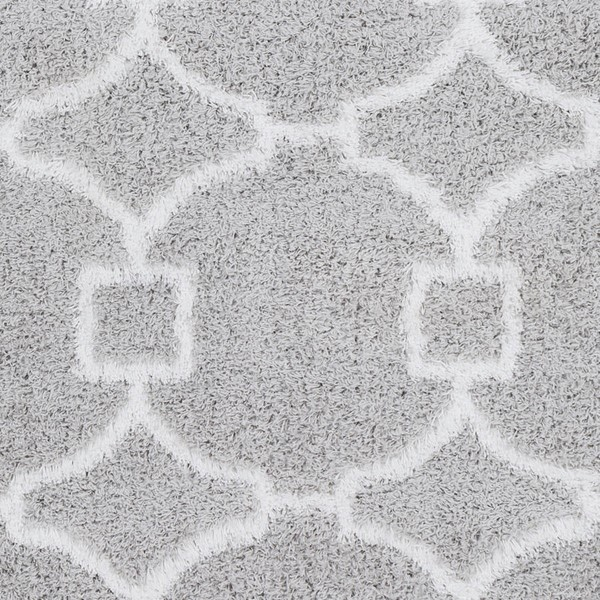 Surya Urban Shag Light Gray White Sample Area Rugs USG2307-RUG-VAR