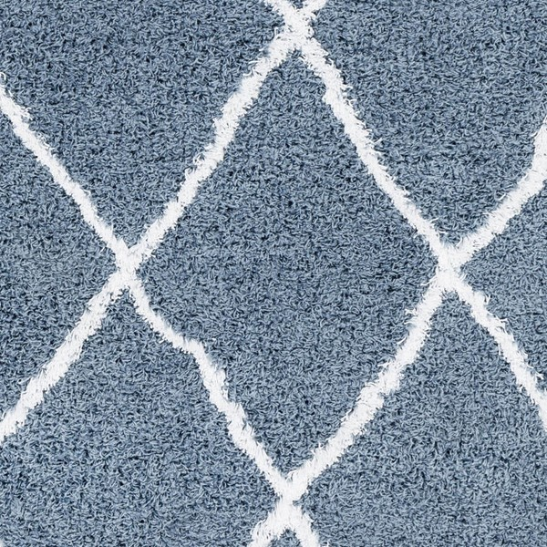 Surya Urban Shag Denim White Sample Area Rug - 18x18 USG2309-1616