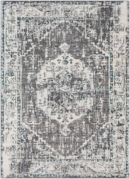 Surya Varanasi Light Gray Dark Blue Camel Polypropylene Area Rug - 36x24 VAR2304-23