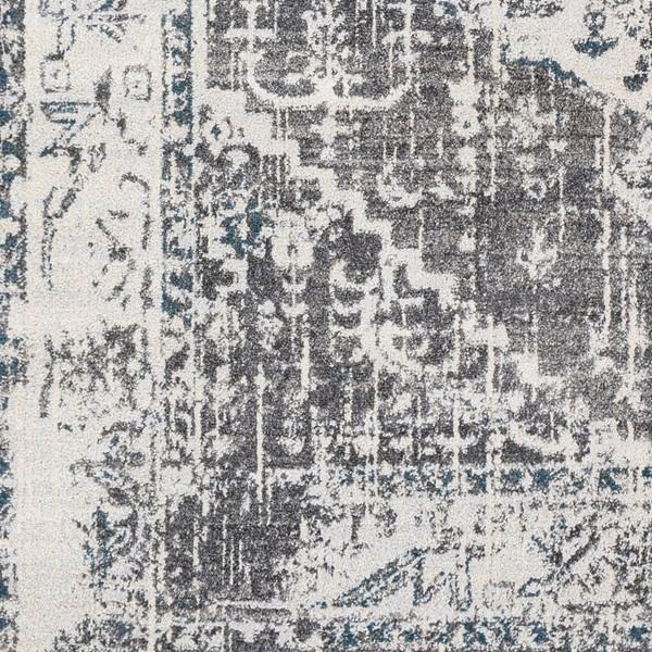 Surya Varanasi Light Gray Dark Blue Camel Polypropylene Sample Area Rugs VAR2304-RUG-VAR