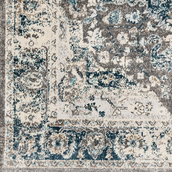 Surya Varanasi Teal Light Gray White Polypropylene Sample Area Rugs VAR2305-RUG-VAR